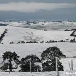 The snow stretched right through the La Trobe Valley.