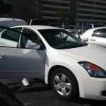 The rental car in LA - Nissan Altima 2.5S.  It lasted less than a week due to a damaged headlight.