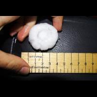 Giant hail near Warwick
