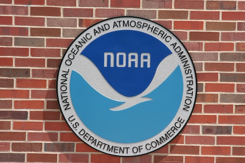 The familiar NOAA logo.